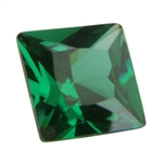 CZ: Square 4mm Columbian Emerald