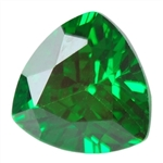 Cubic Zirconia Columbian Emerald: Trillion 4mm