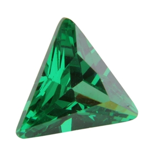 CZ: Triangle 6mm Columbian Emerald