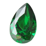CZ: Columbian Emerald - Pear 5mm x 8mm