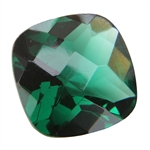CZ: Columbian Emerald - Cushion - Checkerboard 14mm