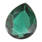 CZ: Columbian Emerald - Pear 10mm x 12mm