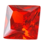 CZ: Square 4mm Fire Opal