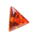 CZ: Triangle 3mm Fire Opal