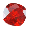 CZ: Fire Opal - Cushion - Checkerboard 10mm Pkg - 1