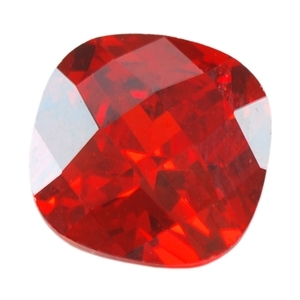 Cubic Zirconia - Fire Opal - Cushion - Checkerboard 14mm Pkg - 1