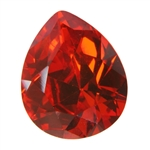 CZ: Fire Opal - Pear 10mm x 12mm