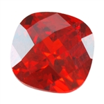 CZ: Fire Opal - Cushion - Checkerboard 6mm