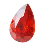 CZ: Fire Opal - Pear 5mm x 8mm