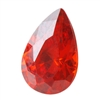 CZ: Fire Opal - Pear 6mm x 9mm Pkg - 2