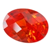 CZ: Fire Opal - Oval - Checkerboard 5mm x 7mm