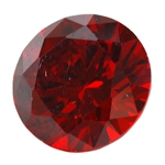 CZ: Hessonite Garnet - Round 2mm