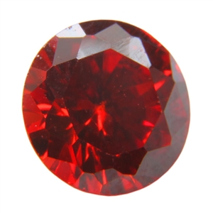 CZ: Round 6mm Hessonite Garnet