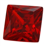 CZ: Square 4mm Hessonite Garnet