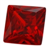 CZ: Square 6x6mm Hessonite Garnet Pkg - 2
