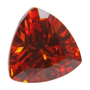 CZ: Trillion 6mm Hessonite Garnet