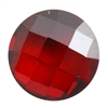 CZ: Hessonite Garnet - Cabochon Round - Checkerboard 6mm Pkg - 2