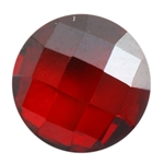 CZ: Hessonite Garnet - Cabochon Round - Checkerboard 6mm