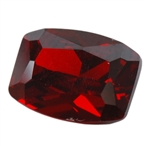 CZ: Hessonite Garnet - Barrel 6mm x 8mm