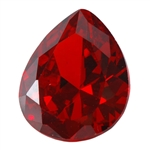 CZ: Hessonite Garnet - Pear 10mm x 12mm