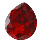 CZ: Hessonite Garnet - Pear 12mm x 14mm