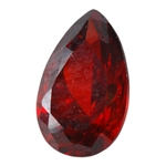 CZ: Hessonite Garnet - Pear 5mm x 8mm
