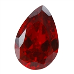CZ: Hessonite Garnet - Pear 6mm x 9mm