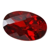 CZ: Hessonite Garnet - Oval - Checkerboard 4mm x 6mm