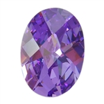CZ: Lavender - Oval - Checkerboard 4mm x 6mm Pkg - 4