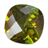 CZ: Olivine - Cushion - Checkerboard 14mm