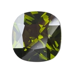 CZ: Olivine - Cushion 14mm Pkg - 1