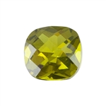 CZ: Olivine - Cushion - Checkerboard 4mm Pkg - 4