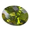 CZ: Olivine - Oval - Checkerboard 12mm x 16mm Pkg - 1