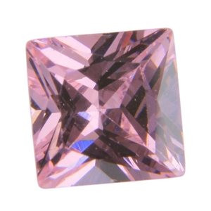 CZ: Square 6mm Pink Sapphire