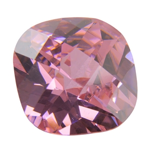 Cubic Zirconia - Pink Sapphire - Cushion - Checkerboard 10mm Pkg - 1