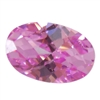 CZ: Pink Sapphire - Oval - Checkerboard 3mm x 5mm Pkg - 10