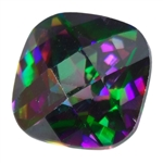 CZ: Alexandrite - Cushion - Checkerboard 4mm