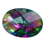 CZ: Alexandrite - Oval - Checkerboard 4mm x 6mm
