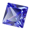 CZ: Square 4x4mm Tanzanite Pkg - 4