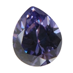 CZ: Tanzanite - Pear 5mm x 8mm Pkg - 4