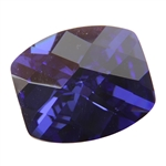 CZ: Dark Tanzanite - Barrel - Checkerboard 8mm x 10mm Pkg - 1