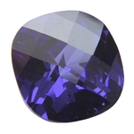 CZ: Dark Tanzanite - Cushion - Checkerboard 14mm x 14mm Pkg - 1