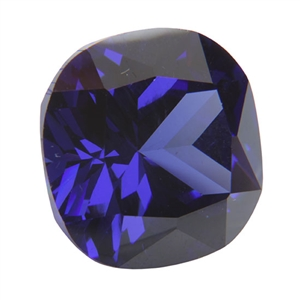 Cubic Zirconia - Dark Tanzanite - Cushion 14mm Pkg - 1