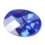 CZ: Tanzanite - Oval - Checkerboard 3mm x 5mm Pkg - 10
