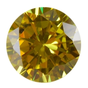 Cubic Zirconia - Yellow Diamond - Round 5mm Pkg - 4