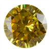 CZ: Round 8mm Yellow Diamond
