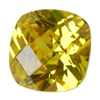 CZ: Yellow Diamond - Cushion - Checkerboard 10mm Pkg - 1