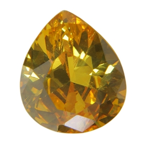 CZ: Yellow Diamond - Pear 10mm x 12mm Pkg - 1
