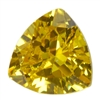 CZ: Yellow Diamond - Trillion 4mm Pkg - 4