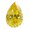 CZ: Yellow Diamond - Pear 5mm x 8mm Pkg - 4
